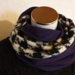 Loop schwarz/weiss violett